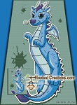 Blue Dragon SC (Single Crochet) Twin Sized Blanket Graphghan Crochet Pattern - PDF Download