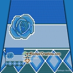 Blue Mood C2C (Corner to Corner) Throw Blanket Graphghan Crochet Pattern - PDF Download