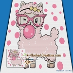 Bubblegum Sheep SC (Single Crochet) Throw Blanket Graphghan Crochet Pattern - PDF Download