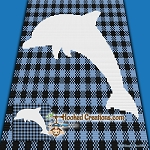 Buffalo Plaid Dolphin Mini C2C (Modified Corner to Corner) Throw Blanket Graphghan Crochet Pattern - PDF Download