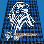 Buffalo Plaid Eagle SC (Single Crochet) Throw Blanket Graphghan Crochet Pattern - PDF Download