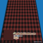 Buffalo Plaid SC (Single Crochet) Throw Blanket Graphghan Crochet Pattern - PDF Download
