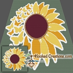 Butterfly Sunflower SC (Single Crochet) Throw Size Blanket Graphghan Crochet Pattern - PDF Download