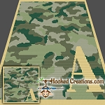 Camouflage Alphabet - A SC (Single Crochet) Baby Blanket Crochet Pattern