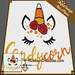Candy Corn SC (Single Crochet) Throw Sized Blanket Graphghan Crochet Pattern - PDF Download