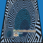 Celtic Wormhole SC (Single Crochet) Throw Blanket Graphghan Crochet Pattern - PDF Download