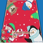 Christmas Buddies SC (Single Crochet) Throw Blanket Graphghan Crochet Pattern - PDF Download