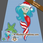 Christmas Mermaid SC (Single Crochet) Throw Size Blanket Graphghan Crochet Pattern - PDF Download