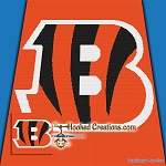 Cincinnati Bengals SC (Single Crochet) Throw Blanket Graphghan Crochet Pattern - PDF Download