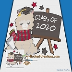 Class of 2020 Llama SC (Single Crochet) Throw Blanket Graphghan Crochet Pattern - PDF Download