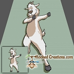 Dabbing Goat SC (Single Crochet) Throw Blanket Graphghan Crochet Pattern - PDF Download