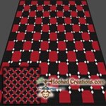 Dancing Checkerboard SC (Single Crochet) Throw Blanket Graphghan Crochet Pattern - PDF Download