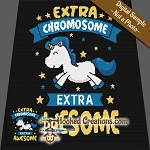 Down Syndrome Unicorn SC (Single Crochet) Throw Blanket Graphghan Crochet Pattern - PDF Download