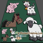 Down on the Farm SC  (Single Crochet) Throw Blanket Graphghan Crochet Pattern