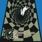 Down the Rabbit Hole TSS  (Tunisian Simple Stitch) Right Handed Throw Blanket Graphghan Crochet Pattern - PDF Download