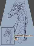 Dragon Soul SC (Single Crochet) Twin Blanket Graphghan Crochet Pattern - PDF Download