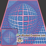 Dynamic Illusion SC (Single Crochet) Throw Blanket Graphghan Crochet Pattern