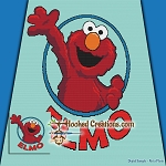 Elmo SC (Single Crochet) Throw Blanket Graphghan Crochet Pattern - PDF Download
