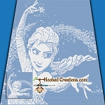 Elsa SC (Single Crochet) Throw Blanket Graphghan Crochet Pattern - PDF Download