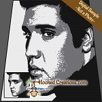 Elvis SC (Single Crochet) Throw Blanket Graphghan Crochet Pattern - PDF Download
