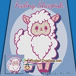 Feeling Sheepish SC (Single Crochet) Throw Blanket Graphghan Crochet Pattern - PDF Download