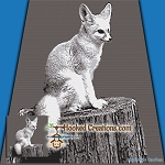 Fennec Fox SC (Single Crochet) Throw Blanket Graphghan Crochet Pattern - PDF Download