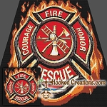 Fire Fighter Logo SC (Single Crochet) Throw Blanket Graphghan Crochet Pattern - PDF Download