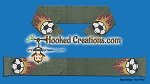 FLAMING SOCCER BALL SC (Single Crochet) Scarf Graphghan Crochet Pattern - PDF Download