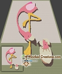 Flamingo Mama & Baby SC (Single Crochet) Throw Blanket Graphghan Crochet Pattern