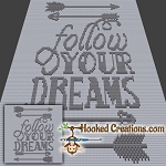 Follow Your Dreams Mini C2C (Modified Corner to Corner) Throw Blanket Graphghan Crochet Pattern - PDF Download