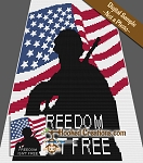 Freedom Soldier C2C (Corner to Corner) Queen Size Blanket Graphghan Crochet Pattern - PDF Download