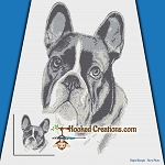 French Bulldog SC (Single Crochet) Throw Blanket Graphghan Crochet Pattern - PDF Download