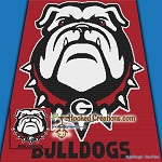 Georgia Bulldogs SC (Single Crochet) Throw Blanket Graphghan Crochet Pattern - PDF Download
