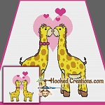 Giraffe Love TSS (Tunisian Simple Stitch) Right Handed Throw Blanket Graphghan Crochet Pattern