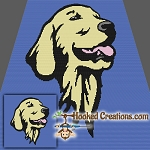 Golden Retriever SC (Single Crochet) Throw Blanket Graphghan Crochet Pattern