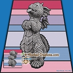 Good Dragon SC (Single Crochet) Throw Blanket Graphghan Crochet Pattern - PDF Download