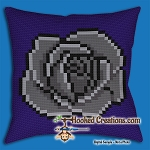 Gothic Rose SC (Single Crochet) Throw Pillow Graphghan Crochet Pattern - PDF Download