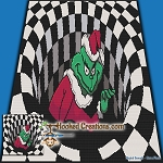 Grinch in a Hole SC (Single Crochet) Throw Blanket Graphghan Crochet Pattern - PDF Download