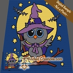 Halloween Owl SC (Single Crochet) Throw Sized Blanket Graphghan Crochet Pattern - PDF Download