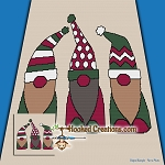 Holiday Gnomes SC (Single Crochet) Throw Blanket Graphghan Crochet Pattern - PDF Download