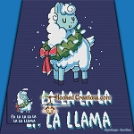 Holiday Llama SC (Single Crochet) Throw Blanket Graphghan Crochet Pattern - PDF Download