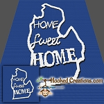 Home Sweet Home Michigan SC (Single Crochet) Throw Blanket Graphghan Crochet Pattern - PDF Download