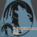 Howling SC (Single Crochet) Throw Blanket Graphghan Crochet Pattern - PDF Download
