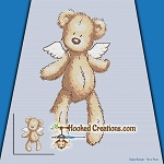 I Earned My Wings SC (Single Crochet) Throw Blanket Graphghan Crochet Pattern - PDF Download