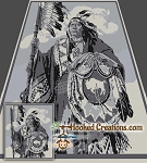 Indian Chief SC (Single Crochet) Queen Blanket Graphghan Crochet Pattern - PDF Download
