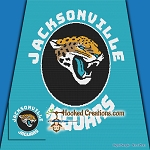 Jacksonville Jaguars SC (Single Crochet) Throw Blanket Graphghan Crochet Pattern - PDF Download