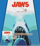 Jaws SC (Single Crochet) Throw Blanket Graphghan Crochet Pattern - PDF Download