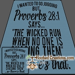 Jogging Proverbs SC (Single Crochet) Throw Size Blanket Graphghan Crochet Pattern - PDF Download