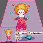 Juggling Clown SC (Single Crochet) Throw Blanket Graphghan Crochet Pattern