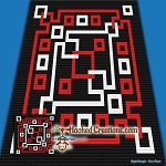 Jump Around C2C (Corner to Corner) Throw Blanket Graphghan Crochet Pattern - PDF Download